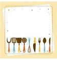 kitchen tools design vector image vector image