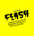lightning flash style font alphabet letters and vector image vector image