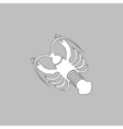 lobster computer symbol vector image vector image