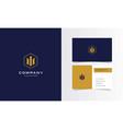 m golden real estate minimalist logo vector image vector image