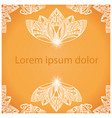 mandala background for design or text vector image vector image