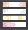 mandala pattern banners vector image vector image