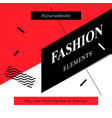 modern promotion square web banner fashion vector image vector image