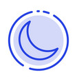 moon night sleep natural blue dotted line line vector image vector image