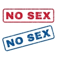 No Sex Rubber Stamps vector image vector image