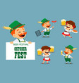 oktoberfest beer festival funny man and woman vector image
