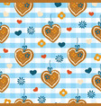 oktoberfest lebkuchenherz ginger heart background vector image