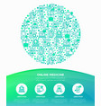 online medicine telemedicine concept vector image vector image