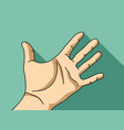 palm hand flat hand vector image vector image