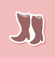 paper sticker fashion footwear women boots with vector image vector image