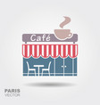 parisian street cafe vector image