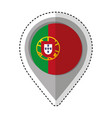 pin location portugal flag icon vector image vector image