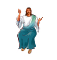 Portrait of Jesus Christ sitting vector image vector image