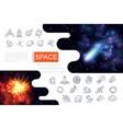 realistic galaxy composition vector image vector image