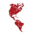 Red grunge continent America logo vector image vector image