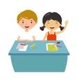 School kids education elementary school learning vector image vector image