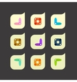 set of beautiful abstract icons vector image