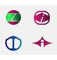 Set of letter I logo icons design template element vector image vector image