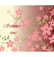 Spring Summer background vector image vector image