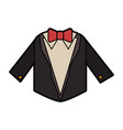 suit with bowtie icon image vector image vector image