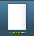 the book is in hardcover vector image vector image