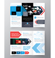 Tri fold Brochure Flyer design layout template vector image vector image