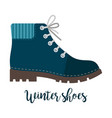 winter shoes icon with text vector image vector image