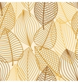 Yellow and brown leaves seamless pattern vector image