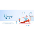 yoga is self love concept flat vector image
