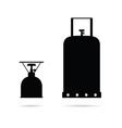 gas cylinder set in black color art vector image