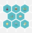 icons flat style coffee outsource development vector image