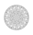 Round Mendie Mandala with butterflies on the vector image