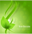 Abstract green design vector image vector image