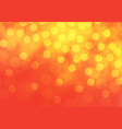 abstract yellow bokeh light on red luxury vector image vector image