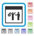 arrest calendar page framed icon vector image vector image