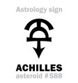 astrology asteroid achilles vector image