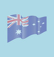 australia flag on blue background wave str vector image