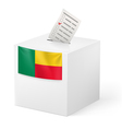 Ballot box with voting paper Benin vector image vector image