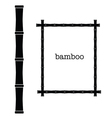 bamboo frame black color art vector image vector image