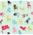 Big set of home chair silhouettes seamless pattern vector | Price: 1 Credit (USD $1)