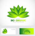 Bio organic flower leafs logo vector image vector image
