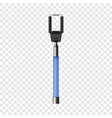 blue selfie stick mockup realistic style vector image vector image