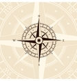 Brown wind rose vector image vector image