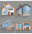 Building flat style home office cottage shop vector image