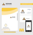 burner business logo file cover visiting card and vector image