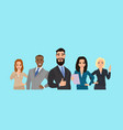 business team people dressed in strict suit vector image