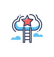 career ladder - modern line design icon vector image vector image