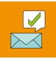 check mark email design vector image vector image