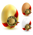 chicken eggs vector image vector image