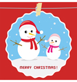 Christmas greeting card25 vector image vector image